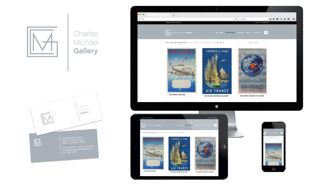 custom art gallery website design online store design