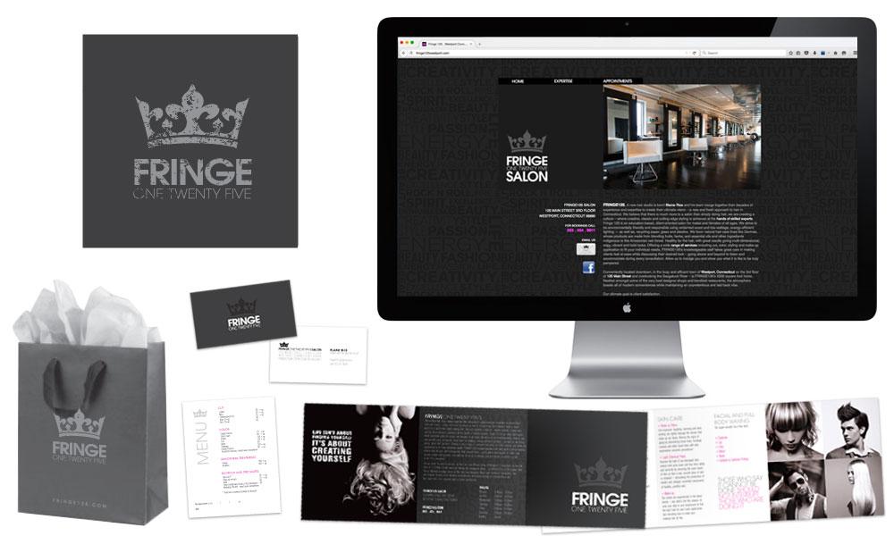salon branding hair studio logo design website advertisements postcards stationary shopping bag design