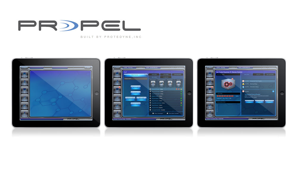 Propel Logo and Software Interface Design