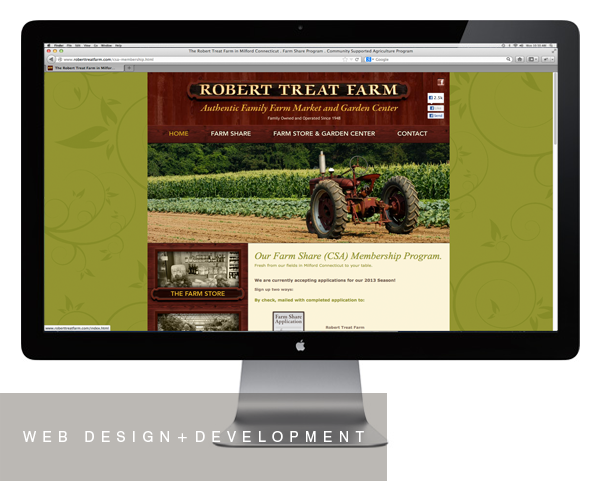 Robert Treat Farm website design