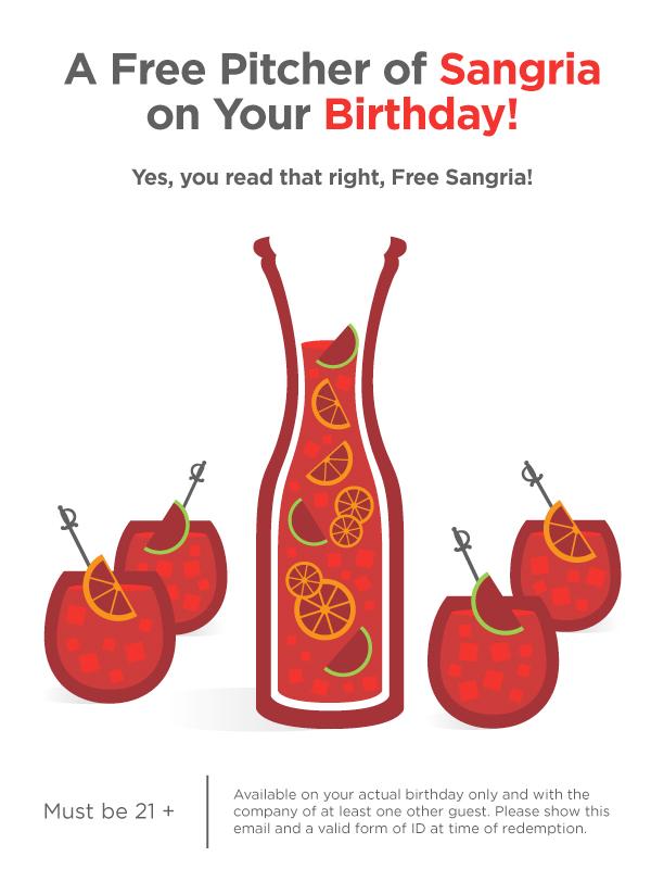 mezon tapas bar and restuarant marketing graphics free sangria vector illustration