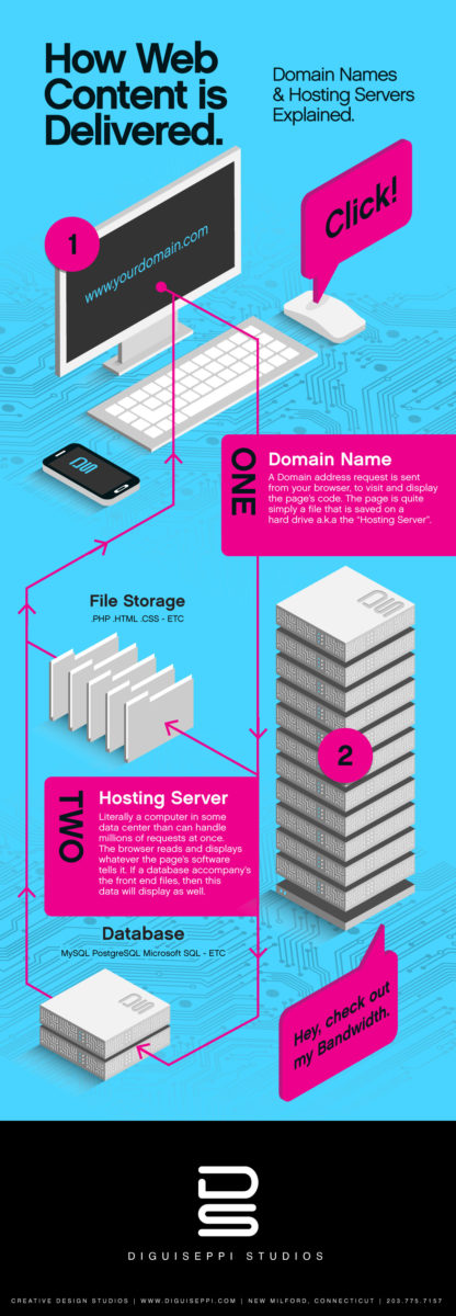 domain names and hosting explained