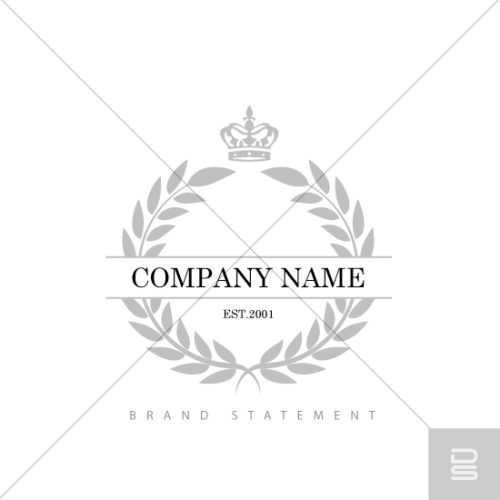 shop-premade-logo-laurel-wreath-with-crown-ornate-antique-logo-design-for-sale-in-fairfield-county-ct