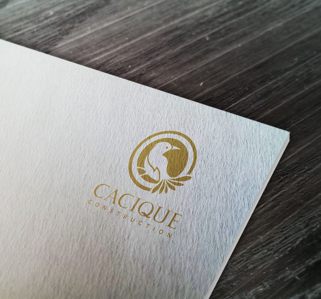cacique-construction-logo-mark-printing-gold